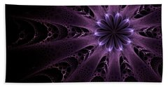 Beach Sheet featuring the digital art Purple Passion by GJ Blackman