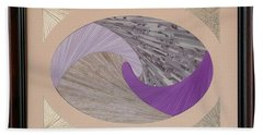 Beach Towel featuring the mixed media Purple Passion by Ron Davidson