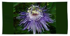 Purple Passionflower Beach Sheet