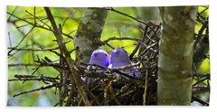 Purple Peeps Pair Beach Towel