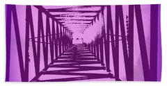 Beach Towel featuring the photograph Purple Perspective by Clare Bevan