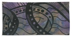 Purple Rings Beach Towel