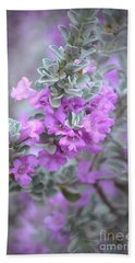 Purple Sage Beach Towel by Deb Halloran