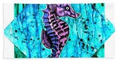 Purple Seahorse Beach Sheet