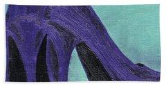 Purple Shoes Beach Sheet