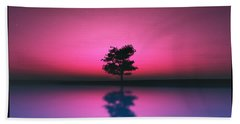 Purple Sky... Beach Towel by Tim Fillingim