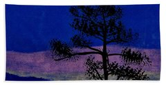Beach Towel featuring the drawing Purple Sunset Bay by D Hackett
