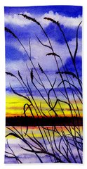 Purple Sunset Beach Sheet