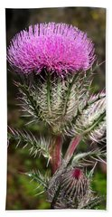 Purple Thistle  Beach Sheet