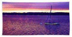 Purple Waters  Beach Sheet