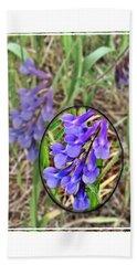 Purple Wildflowers Beach Sheet