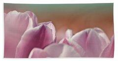 Beach Towel featuring the photograph Purple Tulip Landscape by Jani Freimann