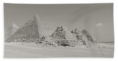 Pyramids Of Giza, Egypt Beach Towel