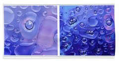 Beach Sheet featuring the photograph Quadryptich Of Colorful Water Bubbles by Peter v Quenter