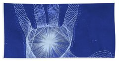 Quantum Hand Through My Eyes Beach Towel