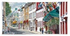 Quebec Old City Canada Beach Towel