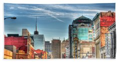 Queen City Downtown Beach Towel by Michael Frank Jr