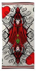 Queen Of Arts Beach Towel