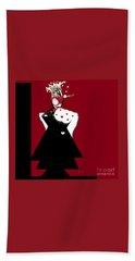 Queen Of Hearts Beach Sheet