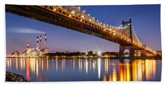 Beach Sheet featuring the photograph Queensboro Bridge by Mihai Andritoiu