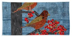 Beach Towel featuring the digital art Sagebrush Sparrow Short by Kim Prowse