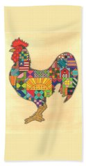 Quilted Rooster Beach Towel