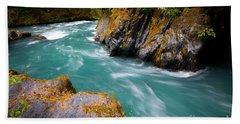 Quinault River Bend Beach Towel