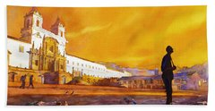Quito Sunrise Beach Towel