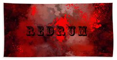 R E D R U M - Featured In Visions Of The Night Group Beach Sheet