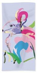 Rabbit - Bunny In Color Beach Towel