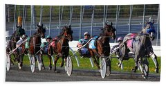 Beach Sheet featuring the photograph Race To The Finish by Davandra Cribbie