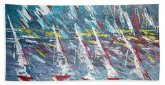 Racing To The Limits - Sold Beach Towel by George Riney
