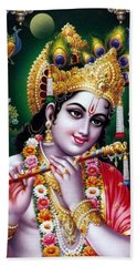 Radha Krishna Idol Hinduism Religion Religious Spiritual Yoga Meditation Deco Navinjoshi  Rights Man Beach Towel