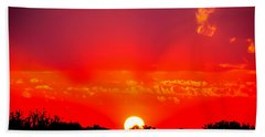 Beach Towel featuring the photograph Radiant Sunset by Dee Dee  Whittle