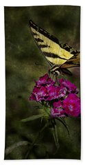Beach Towel featuring the photograph Ragged Wings by Belinda Greb