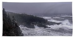 Raging Fury At Quoddy Beach Towel