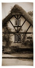 Rags Corner Cottage Nether Wallop Olde Sepia Beach Towel
