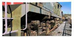 Beach Towel featuring the photograph Rail Truck by Michael Gordon