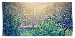 Beach Sheet featuring the photograph Rain by Leanne Seymour