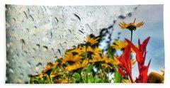 Rain Rain Go Away... Beach Sheet by Michael Frank Jr