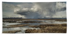 Rain Storm Beach Towel