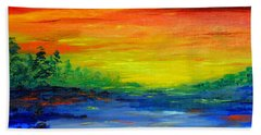 Rainbow Back Waters Beach Towel