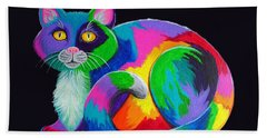 Rainbow Calico Beach Towel