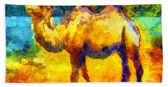 Rainbow Camel Beach Towel