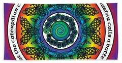 Rainbow Celtic Butterfly Mandala Beach Sheet
