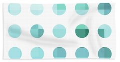 Rainbow Dots Aqua  Beach Towel