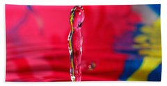 Beach Towel featuring the photograph Rainbow Drop by Peter Lakomy