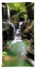 Rainbow Falls Beach Towel by Lori Deiter