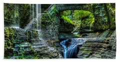 Rainbow Falls Watkins Glen Beach Towel