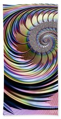 Rainbow Fronds Beach Towel